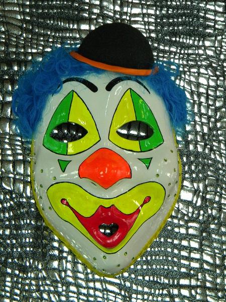 Латексная маска на Хэллоуин